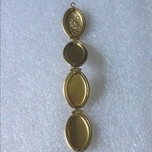 Vintage brass photo locket pendent